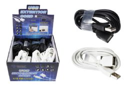 24 Units of 6 FOOT USB CABLE EXTENDER - Cables and Wires
