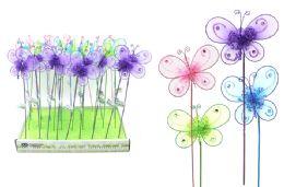144 Units of BUTTERFLY GARDEN PICK - Garden Decor