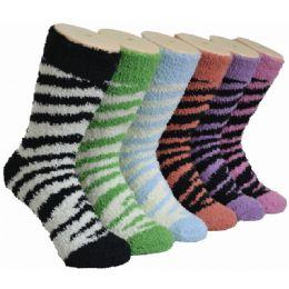 180 Units of Women's Fluffy Cozy Socks - Womens Fuzzy Socks