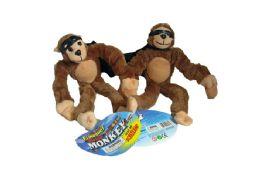 24 Units of SCREAMING SLINGSHOT MONKEY IN DISPLAY - Plush Toys