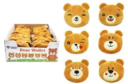 72 Units of Bear Face Coin Purse With Clip - Wallets & Handbags