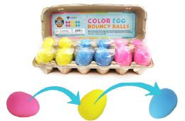 72 Units of Bouncy Egg Ball Colorful - Balls