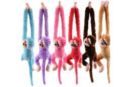 24 Units of Colorful Screaming Slingshot Monkey - Plush Toys