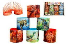 72 Units of Dinosaur Slinky - Novelty Toys