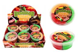48 Units of Dinosaur Tri Color Bouncing Putty - Slime & Squishees
