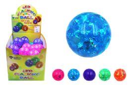 72 Units of Flashing Glitter Ball - Light Up Toys