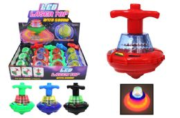 36 Units of Flashing LED Toy Top with Music - Light Up Toys