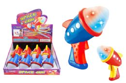 24 Units of Flashing Space Gun with Sound Effects - Light Up Toys