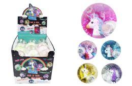72 Units of Flashing Unicorn Ball - Light Up Toys