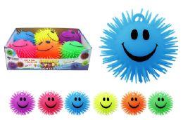 24 Units of Jumbo Flashing Smiley Ball - Slime & Squishees
