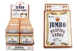 72 Units of Jumbo Playing Cardsl - Playing Cards, Dice & Poker