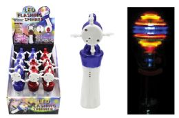 24 Units of LED Flashing Spinner Wand - Light Up Toys