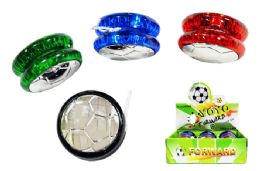 72 Units of Light Up Yo Yo With Soccer Ball Design - Light Up Toys