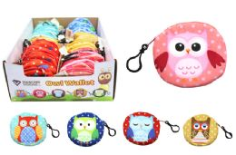 72 Units of Owl Coin Purse Keychain - Coin Holders & Banks