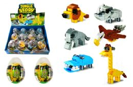 48 Units of Toy Building Blocks in Egg - Animals & Reptiles