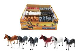 60 Units of Toy Horse Assorted - Animals & Reptiles