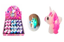 48 Units of Unicorn Light Up Ring - Light Up Toys