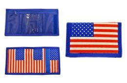48 Units of USA Flag Nylon Wallet - Wallets & Handbags