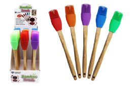 48 Units of Bamboo Handle Silicone Brush - Kitchen Gadgets & Tools