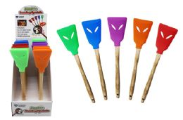40 Units of Bamboo Handle Silicone Turning Spatula - Kitchen Gadgets & Tools
