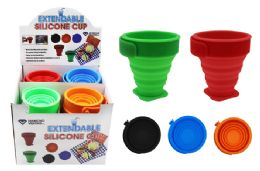 72 Units of Extendable Silicone Travel Cup - Drinking Water Bottle