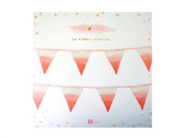 72 Units of Pink Fabric Bunting - Store