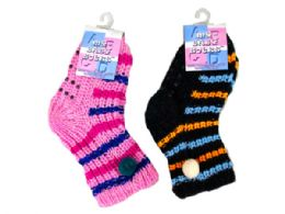 144 Units of Colorful Design Cotton Socks - Store