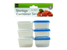 72 Units of 6 Pack 3 Ounce Storage Box Set - Food Storage Containers