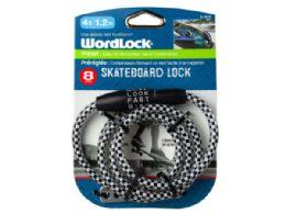 24 Units of WordLock 8mm 4 Ft Skateboard Lock - Store