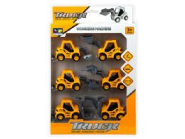 12 Units of 6 Piece Pull Back Super Friction Power Trucks - Toy Sets