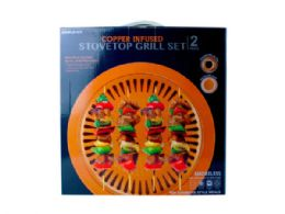 12 Units of Copper Infused Stovetop Indoor Smokeless Grill - Store