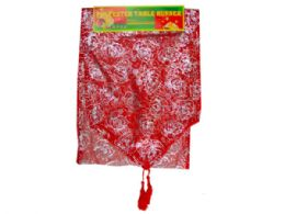 144 Units of Red And Gold Bell Designs Table Runner - Store
