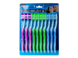 18 Units of 10 Pack Toothbrush Set - Toothbrushes and Toothpaste