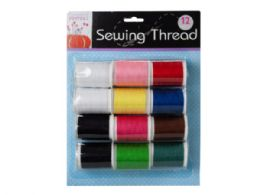 36 Units of 12 Pack Colored Sewing Thread - Sewing Supplies