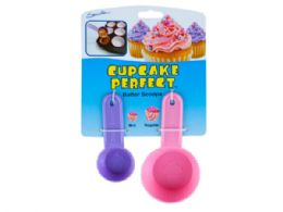 72 Units of Cupcake Perfect Mini and Regular Sized Batter Scoops - Measuring Cups and Spoons
