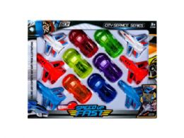18 Units of 12 Pack Car and Jet Play Set - Toy Sets