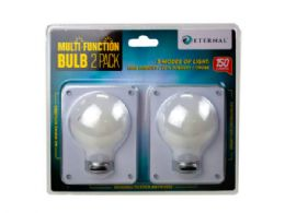 12 Units of 2 Pack Bulb Shaped Multi Function Switch Light - Lightbulbs