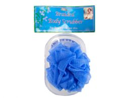 72 Units of Body Scrubber With Tray In Assorted Colors - Loofahs & Scrubbers