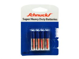72 Units of AAA Super Heavy Duty Batteries in Blister Pack of Four - Store