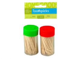 72 Units of 2 Pack Toothpicks with Dispenser - Kitchen Gadgets & Tools