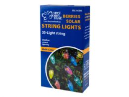 12 Units of Balls And Berries Solar String Lights In Countertop Display - Lightbulbs
