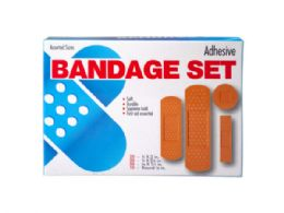 45 Units of 100 Pack Bandage Assortment - First Aid and Bandages