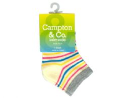 144 Units of Baby Socks 4.5-5 Assorted Colors - Baby Accessories