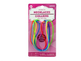 144 Units of 6 Pack Rainbow Silicone Necklaces - Necklace