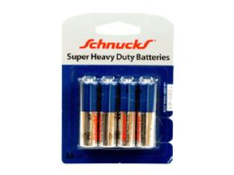 72 Units of AA Super Heavy Duty Batteries in Blister Pack of Four - Store