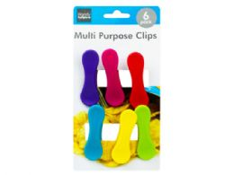 72 Units of 6 Piece Colorful Bag Clips - Kitchen Gadgets & Tools
