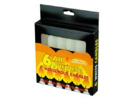 72 Units of 6 Pack 4 AlL-Purpose Candles - Candles & Accessories
