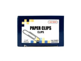 180 Units of 1.25 Paper Clips 100 Count - Paper clips