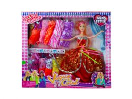 6 Units of Beauty Doll with High Fashion Wardrobe - Toy Sets