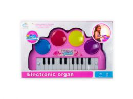 6 Units of Battery Operated Light Up Keyboard - Toy Sets